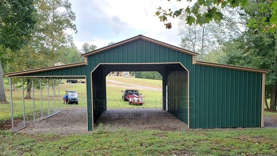 36x30x12 All Vertical Carolina barn