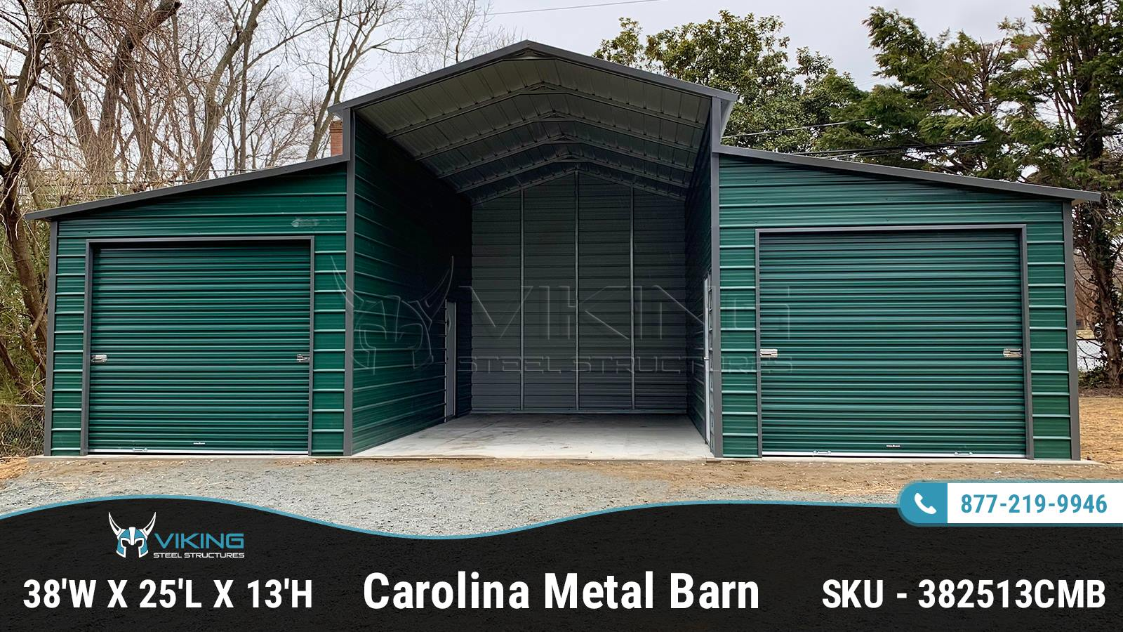 38x25x13_Carolina_Metal_Barn
