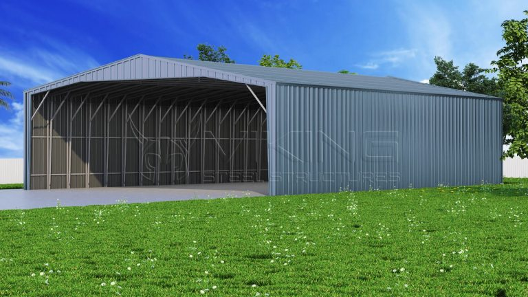 38x61 Enclosed Steel Carport