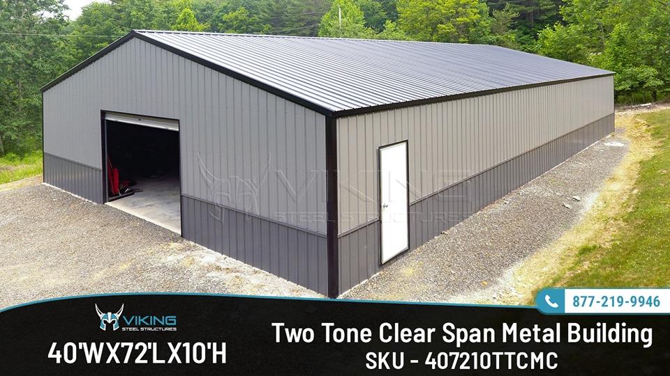 40X72X10-Clear-span-metal-building