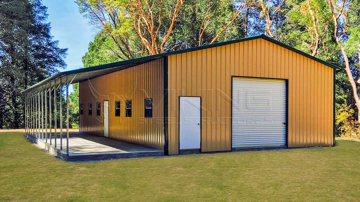 42x51x11 Custom Workshop Metal Building