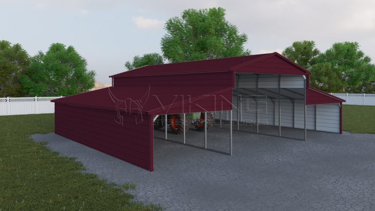 44x36 Metal Carolina Barn