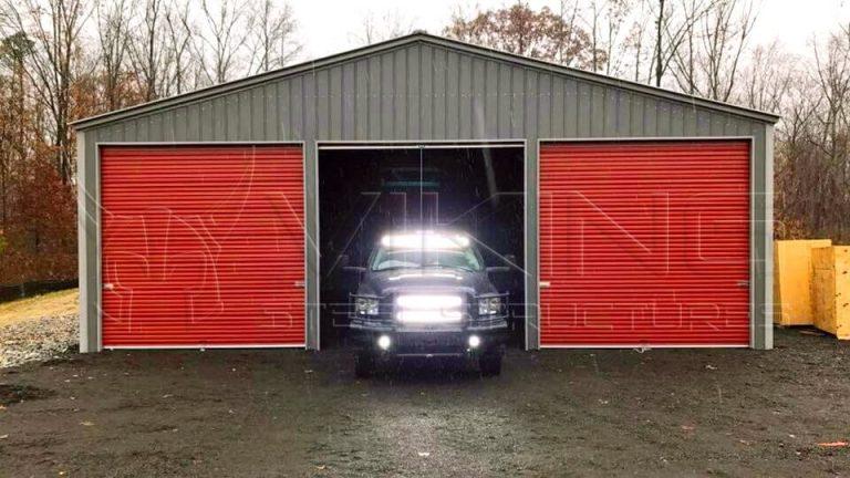 44x44x14 All Vertical Three Car Garage