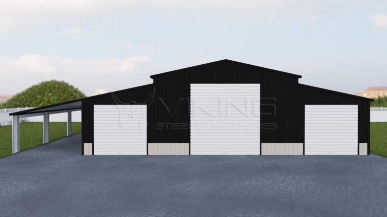 46x51 Carolina Barn With Lean-To
