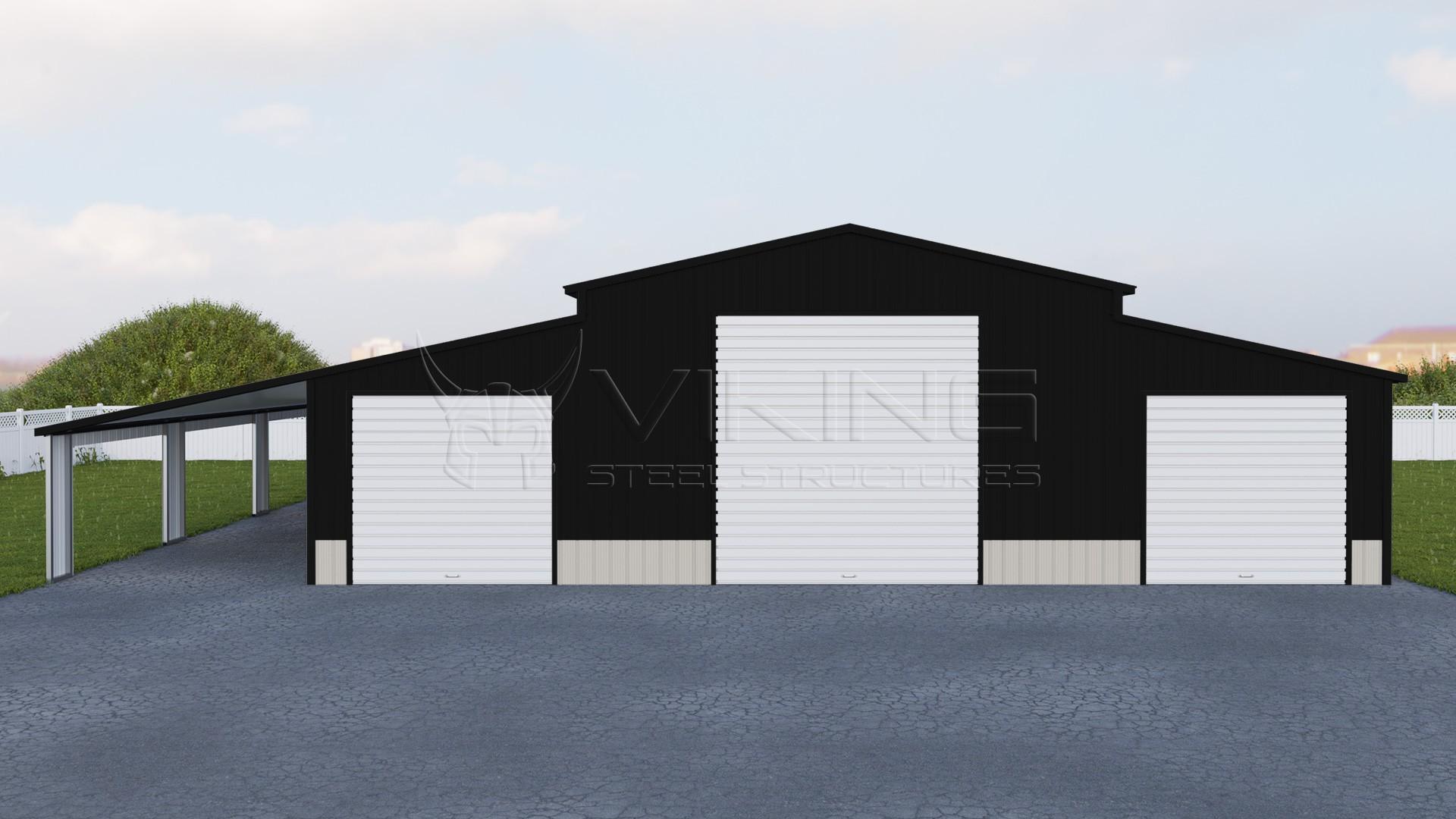46x51 Carolina Barn With Lean To