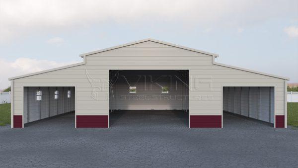 48x41 Enclosed Carolina Barn Building