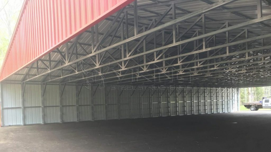50x90x10 All Vertical Clear Span Metal Building