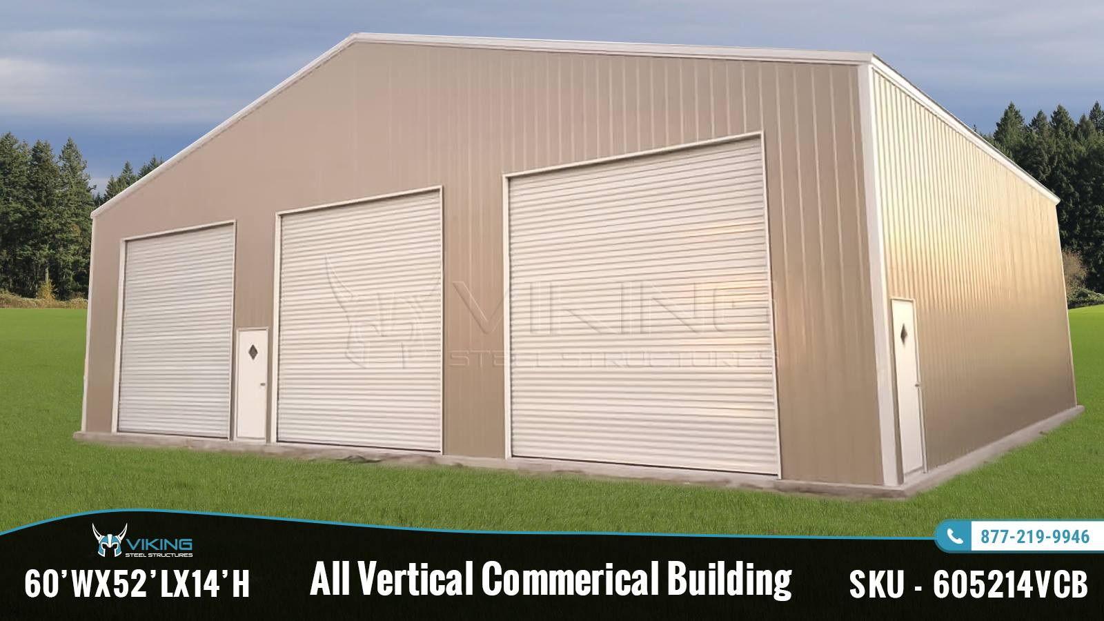 60x52x14 All Vertical Commercial Building Structure