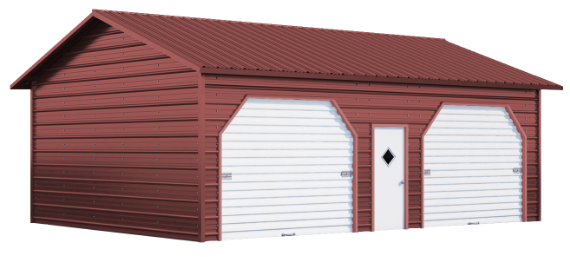 Red Color Metal Garage