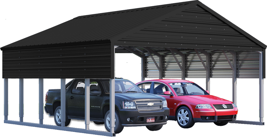 Carolina Carport Black : Metal building color selector carport planner