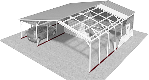 Learn About- Metal Carports, Garages and Barns Components